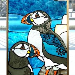 ステンドグラス ペンギン