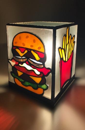 ステンドグラス ハンバーガー