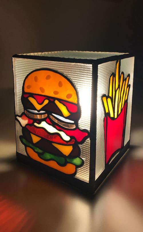 ハンバーガーのライト