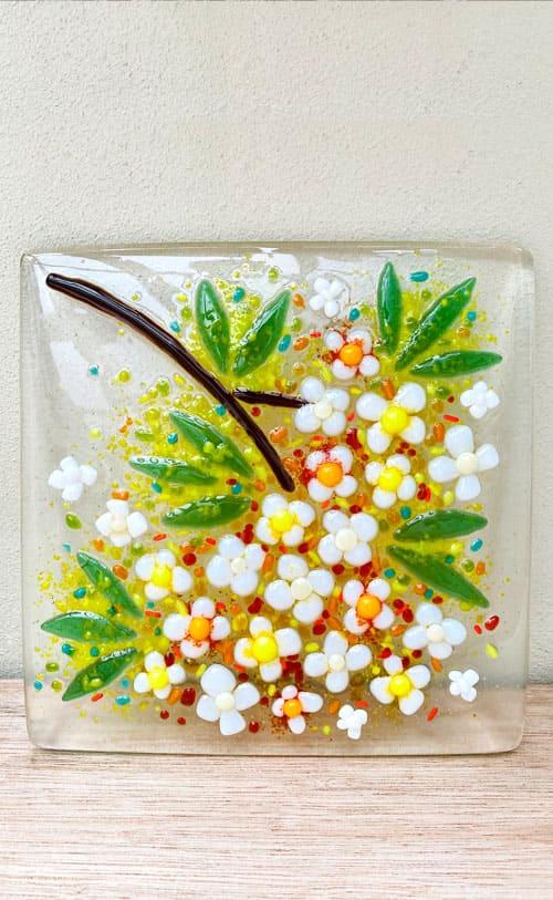 エクステリア用ステンドグラス 花