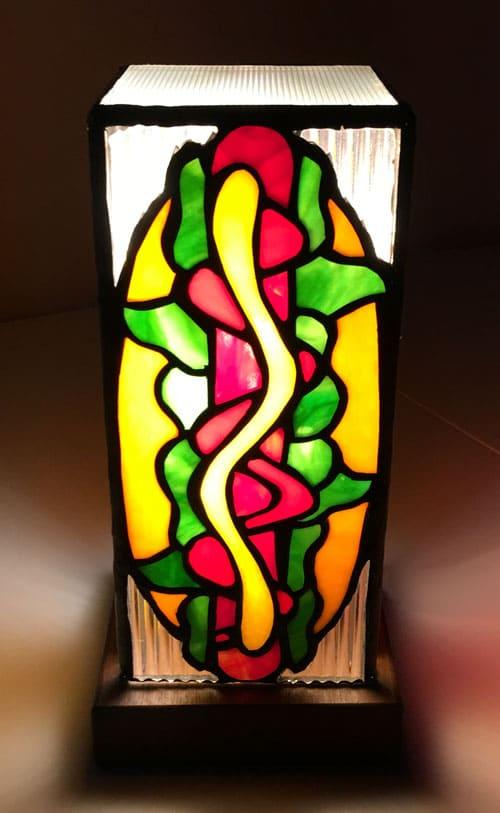 ステンドグラス作品 ホットドッグ照明1