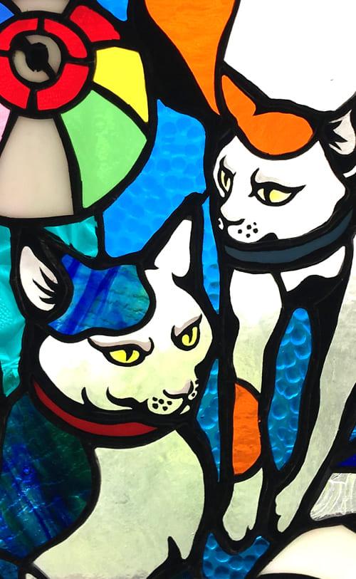 和猫のパネル