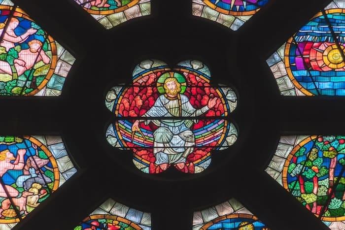 キリストのステンドグラス